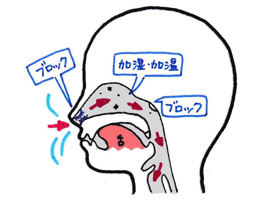 鼻呼吸のメリット
